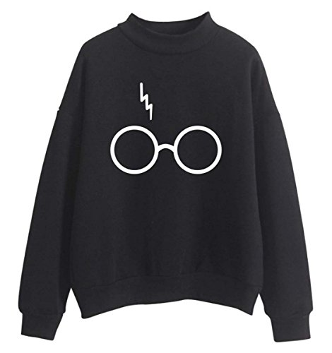 Mujere Harry Potter Fans Sudaderas Niñas Cool Casual Linda Jersey Loose Fitting Top negro M