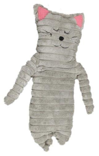 Inware 8783 - Bouillotte Chat, gris, 9 x 24 cm, pour le chauffage au micro-ondes, remplissage amovible