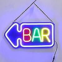 Luces De Neón Bar - Letrero De Barra De Marquesina Iluminado En Color Púrpura - Letrero