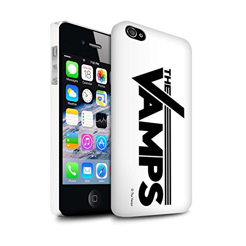Offiziell The Vamps Hülle / Glanz Snap-On Case für Apple iPhone 4/4S / Pack 6pcs Muster / The Vamps Graffiti Band Logo Kollektion Weiß/Schwarz