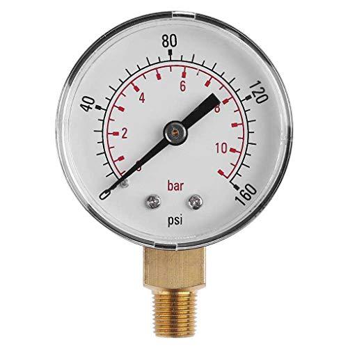 fgghfgrtgtg 0-160psi 0-11bar Manometer Luftverdichter Meter Hydraulikdrucktester Spur 1/8-Zoll NPT Seitenmontage -