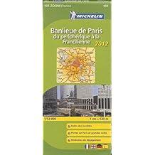 Carte ZOOM Banlieue de Paris du peripherique a la francilienne 2012