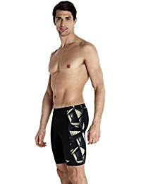 Speedo Mens Allover Splice Jammer Print 3 - Black / Violet / Watermelon