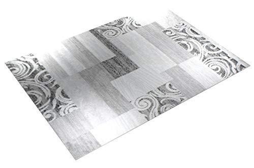 Paco Home Designer Teppich Wohnzimmer Teppich Kurzflor Muster in Grau Creme Preishammer, Grösse:160x220 cm