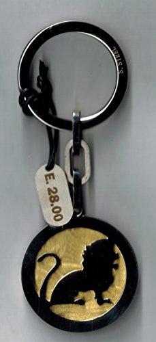 Portachievi segno zodiacale - leone acciaio satinato dorato il mio - lavorato al laser - con scatola - made in italy