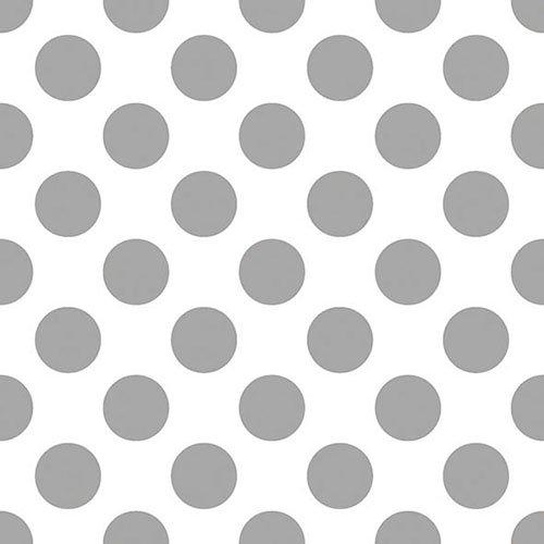 Ambiente - Pack de 20 servilletas de Papel de 3 Capas, tamaño del Almuerzo, 33 x 33 cm, diseño de Lunares, Color Plateado
