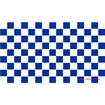 Preston North End Navy Blue and White Checkered 5'x3' Flag