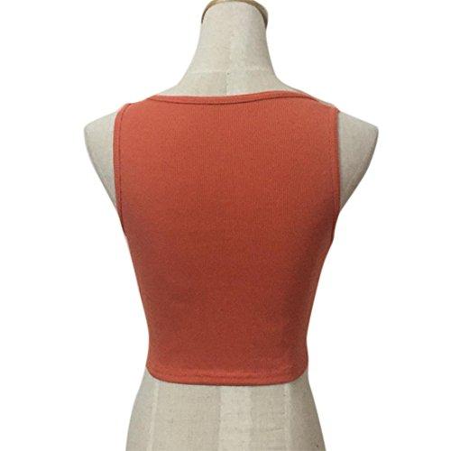 Blusen,WINWINTOM Frauen Tank Tops Bustier Bra Bandage Weste Shirt Bluse Orange