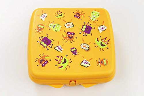 "TUPPERWARE To Go Sandwich-Box orange""Little Hero"" Monster- Muster A126"