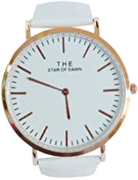 VITREND™ The Star Of Dawn Rose Gold-Classic Dial-Super White Strap Fashion Analog Watch For Men And Women