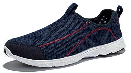 Viihahn Hommes Mesh Respirante Imperméable Slip-On Séchage Rapide Aqua Eau Chaussures Marine