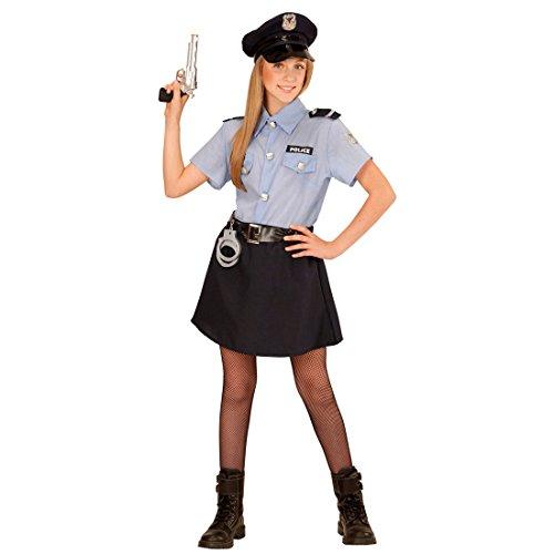 Polizeikostüm Mädchen Kinder Polizistin Kostüm L 158 cm -
