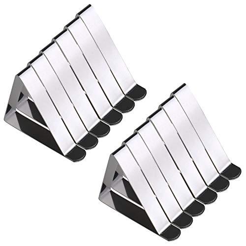 12x Tischtuchklammern Edelstahl Tischtuch Tischklammern Tischtuchhalter