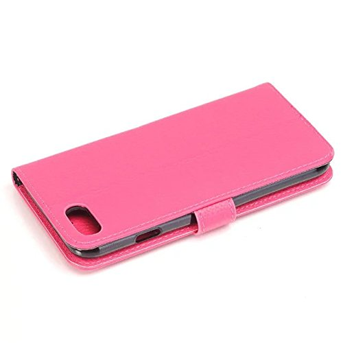 iPhone Case Cover Solide Couleur Case Wallet Haute Qualité Motif Litchi Housse en cuir PU Cover Case Flip Stand pour iPhone Appple 7 ( Color : Rose , Size : IPhone 7 ) Rose