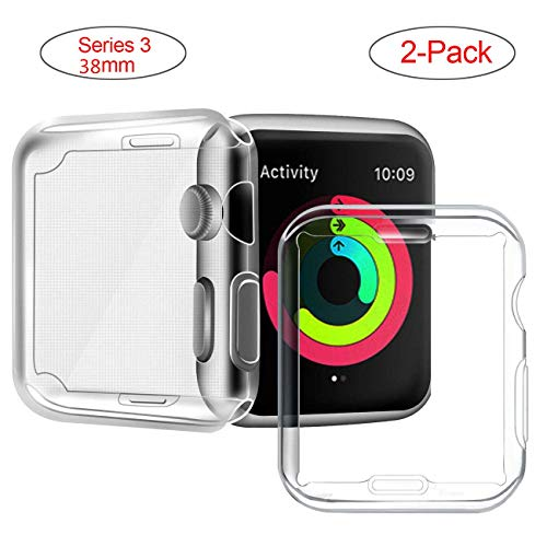 iwatch 38mm Schutz, Bealviy iwatch Schutzhülle, Apple Watch 3 38mm Displayschutz, Kompatibel mit der iWatch Screen Protector, TPU Hoch Definition klar Ultradünne Abdeckung, iWatch Case-Serie 3/2(2Pcs)