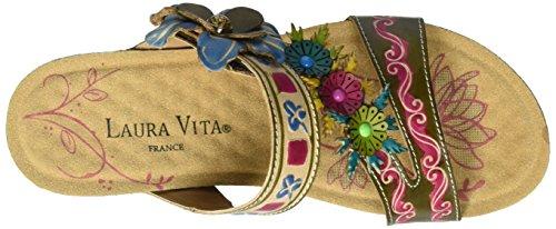 Laura Vita Damen Bingo 01 Pantoletten Grün (Kaki)