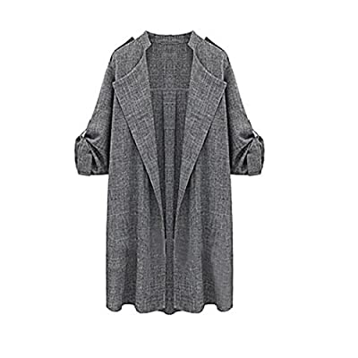 Anglewolf Womens Open Front Trench Coat Long Cloak Jackets Waterfall Cardigan