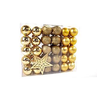 Lifestyle-More-Weihnachtskugeln-Christbaumkugeln-Set-61-teilig-mit-nur-Groen-Kugeln–6-cm-Gold-inklusive-Sternspitze-und-passenden-Anhngern