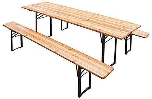 Set Bierzeltgarnitur Tisch + 2Bänke cm.220x 70–51488