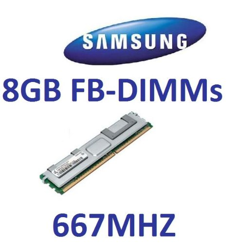Samsung original 8 GB 240 pin DDR2-667 ECC Fully Buffered DIMM (flat heatsink) (M395T1K66AZ4-CE660) -