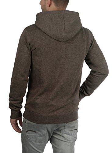 !Solid BertiZip Herren Sweatjacke Kapuzenjacke Hoodie Mit Kapuze Reißverschluss Und Fleece-Innenseite, Größe:S, Farbe:Coffee Bean Melange (8973) - 3