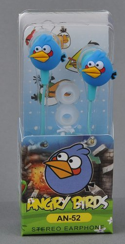 Angry Birds In-Ear Kopfhörer Nintendo Sony PSP Iphone Ipad in blau Angry Birds Psp