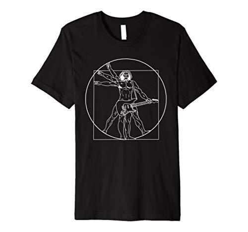 Vitruvian Man Guitar Shirt Da Vinci Guitarist T-Shirt Gift -