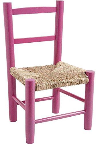 Chaise-enfant-en-bois-laqu-rose
