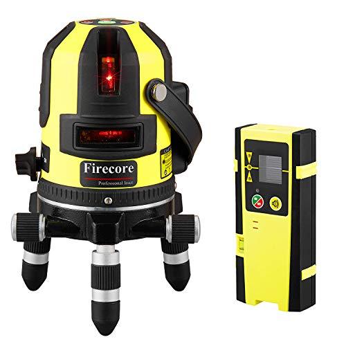 Firecore FIR411R Nivel láser de línea cruzada autonivelante rotativo de 360   grados con punto vertical, rojo