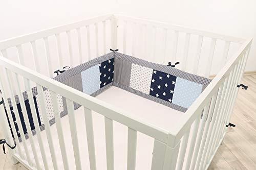 ULLENBOOM ® Laufgitter-Nestchen 10 verschiedenen Farb-Designs & 2 Längen (Baby Laufgitter Nestchen, 200 cm / 400 cm Umrandung für Laufstall)
