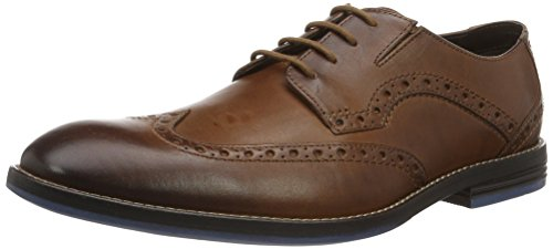 Clarks Herren Prangley Limit Brogue Schnürhalbschuhe, Braun (British Tan), 43 EU
