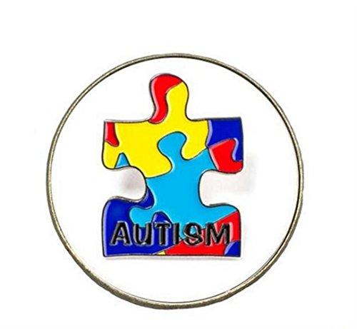 Redyiger Kleines und exquisites Abzeichen Kreative Autismus Legierung Runde Brosche Button (bunt) (Autismus-abzeichen)