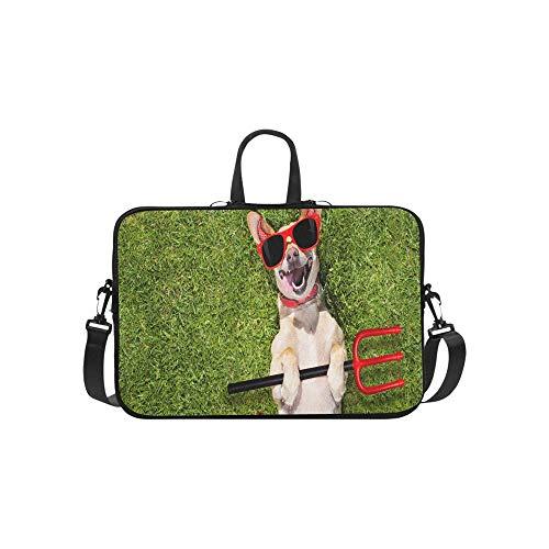 Chihuahua Hund Geist Halloween Scary Spooky Aktentasche Laptoptasche Messenger Schulter Arbeitstasche Crossbody Handtasche Für Geschäftsreisen