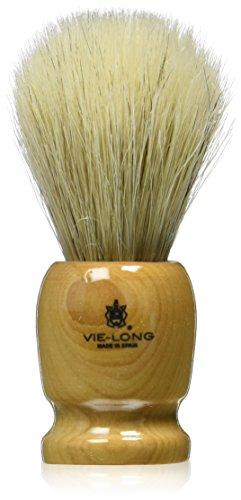 Blaireau Vie-Long en bois d'olivier poli et crin de cheval 21mm