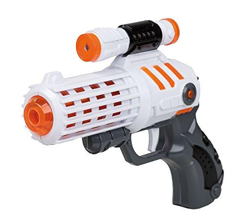 Idena 40411 - Space Pistole mit Licht und Sound, ca. 19 cm (Sound-effekte Für Halloween-kostüm)