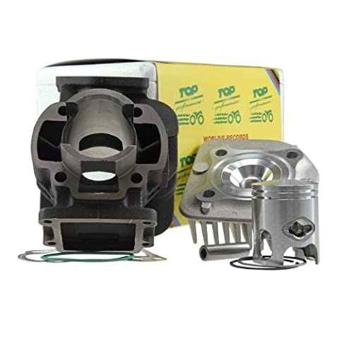 Top Performances cylinder kit Trophy 50cc for (New Version) 1991–1992) Aprilia Amico (from 1993), GL, Sports, SR 50(Up To 1994), Slider, MBK Booster, Yamaha BWs, Stunt, Target, Zuma