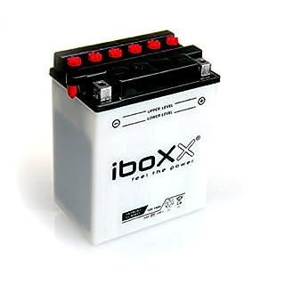 Iboxx Motorrad Batterie YB14L-A2, 12 Volt, 14 Ah, inkl Säurepack für Suzuki GSX-R 1100, L, GV73C, Bj. 1990