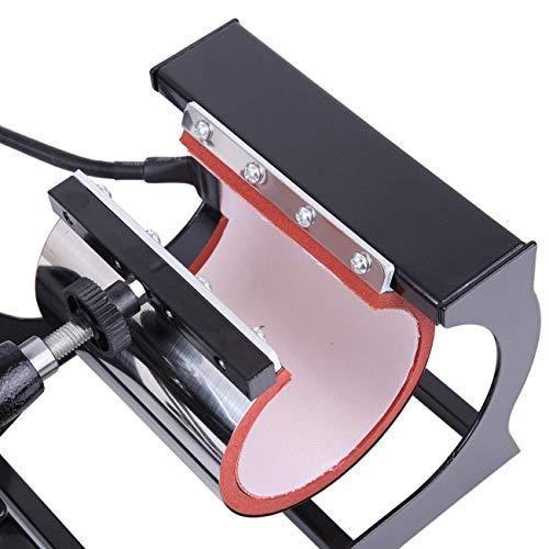 Ridgeyard Upgraded Multifunktions 5 in 1 Heißpresse/Hitzepresse/Transferpresse Überführungsmaschine Mug Hat Plate Swing Maschine Sublimation Transferdrucker für Platten Becher Schalen Hut T-Shirt - 8