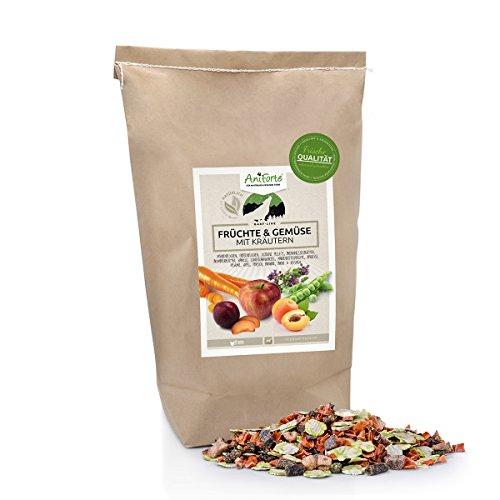 (AniForte B.A.R.F. Line No2 Früchte und Gemüse- in Verschiedenen Größen- mit Kräutern 5kg glutenfreie Gemüseflocken Hundefutter- Naturprodukt für Hunde)
