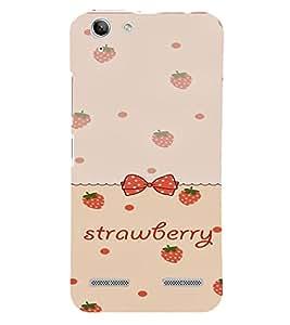 PrintVisa Strawberry & Bow Pattern 3D Hard Polycarbonate Designer Back Case Cover for Lenovo Vibe K5 Plus