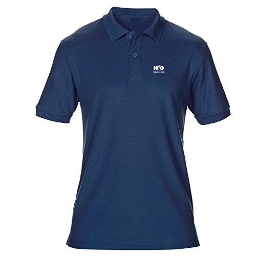 HIO HOLE IN ONE Polo golf femme Bleu Marine AUGUSTA 65% polyester / 35% coton pré-rétréci (double piqué). Taille XL OFFERT pour l'achat de cet article votre servIette de microfibre HIO