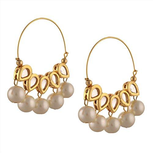 zephyrr fashion traditional gold tone hoop earrings with kundan meenakari pearls for girls and women Zephyrr Fashion Traditional Gold Tone Hoop Earrings with Kundan Meenakari Pearls for Girls and Women 41isWp8u 2BtL