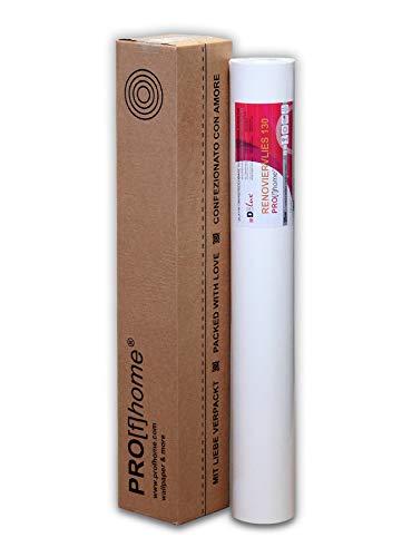 1 Rolle 25 Meter Malervlies Renoviervlies glattes Vlies Objektvlies Vliestapete zum Überstreichen weiß 130 g   18,75 qm - 2