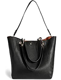 KAMIERFA Tote Bags for Women with Liner Package Large Capacity Hobo Bag  Designer Italian PU Leather Lichee Pattern Classic Ladies… 5d782f6790495