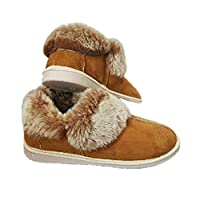 Sale !!! Ladie`S, Men`S Natural, Warm & Lovely! Sheep Leather Boots 6 Chestnut Wool Slippers (EU 39)