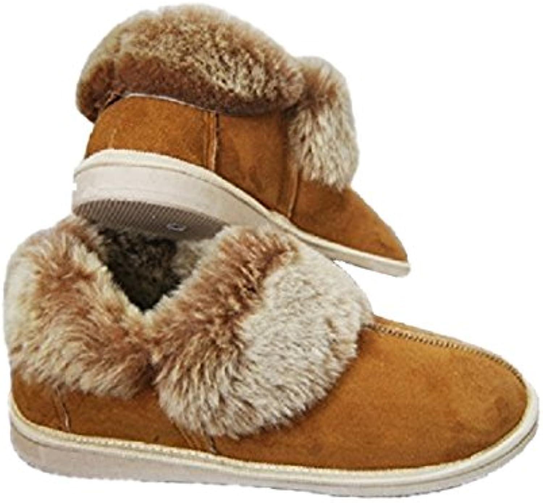 Merino Wool - Zapatillas de estar por casa de piel de borrego para mujer Marrón marrón 41 1/3 EU