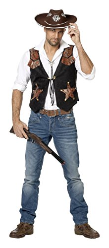 Herren Kostüm Western Cowboy Sheriff Weste Karneval Fasching Gr.56 (Sheriff Für Erwachsene Herren Kostüm)