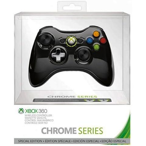 Microsoft - Mando Wireless Chrome, Color Negro - Edición Limitada (Xbox 360)