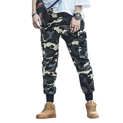 CuteRose Men Outdoor Camo Tapered Oversized Multi-Pockets Cargo Work Pant 6 2XL (Fleece-6-pocket Pant)
