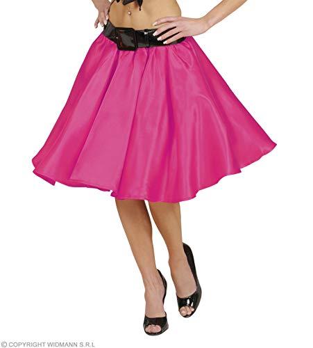 Kostüm Rock Mädchen And Roll - WIDMANN Rock `n Roll Twist Mädchen rosa Satin Rock Größe: M